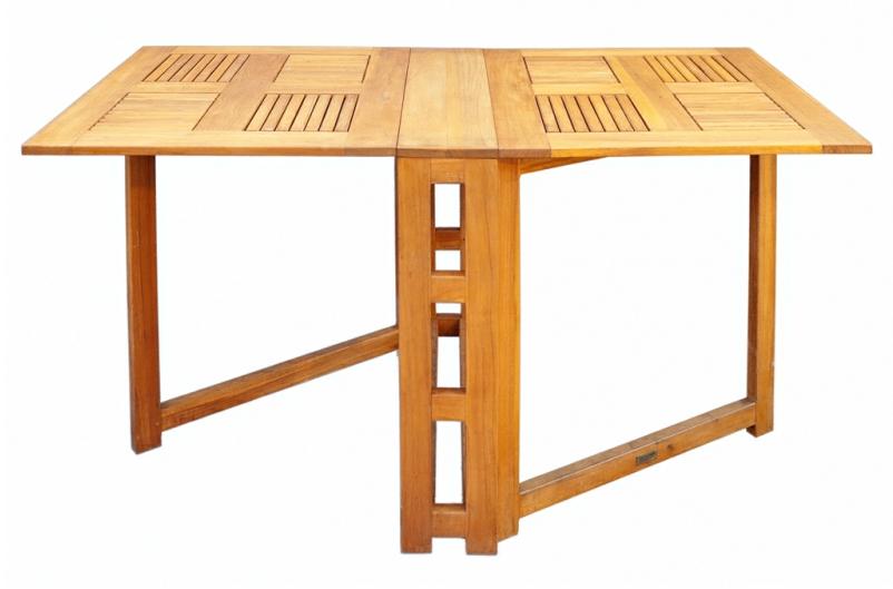 mesa alas extensibles madera de teca
