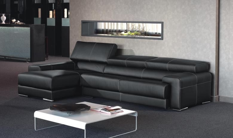 Sofa moderno negro precio descuento madrid for Sofas modernos madrid