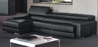 Sofá moderno piel espesorada modelo KRONOS