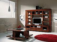 Composición 3059 mueble de madera maciza para salón
