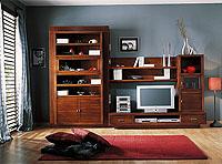 Composición salón madera maciza 3066