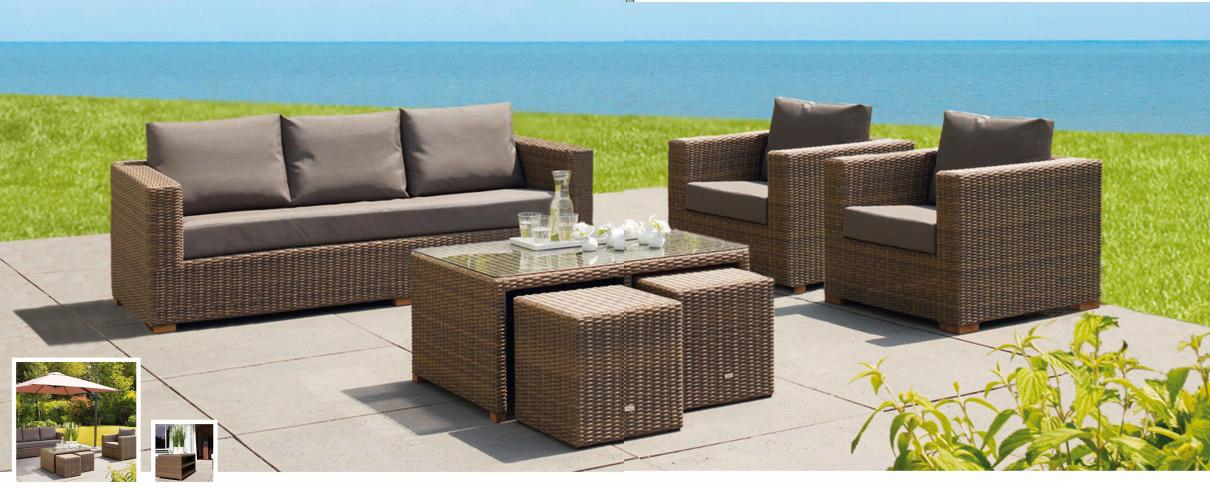 Mia home set de sof para exterior moray for Sofa exterior plegable