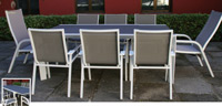 Set de mesa para exterior Peru - Set de mesa de exterior Peru