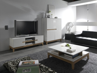 Conjunto de saln con TV - Conjunto de saln con mesa, mueble y mueble para TV