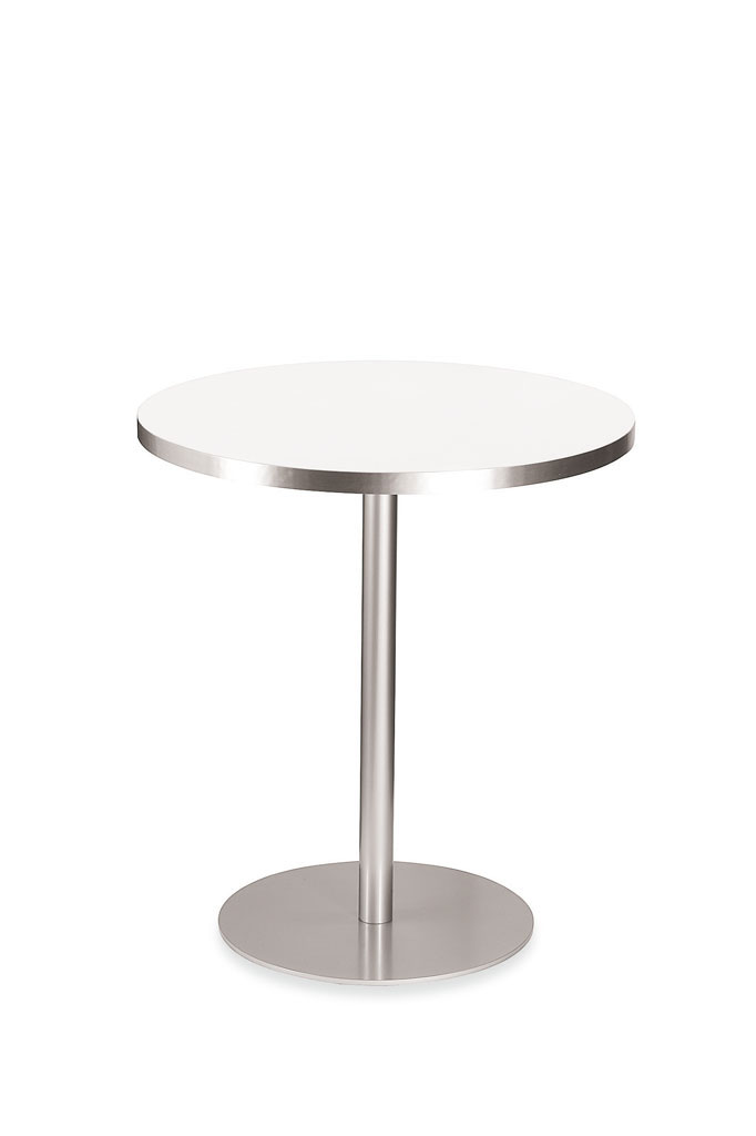 Oyg mesa redonda charlie y silla nordica mesas de comedor for Mesa redonda blanca