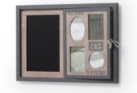 Portafotos con pizarra en madera de abeto