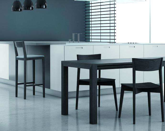 Juego comedor mesa extensible sillas y taburetes muebles de ...
