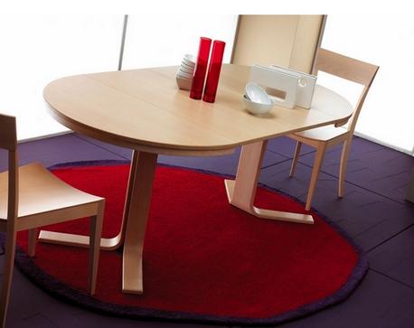 Juego comedor mesa redonda extensible y sillas cocina y - Mesas de comedor pequenas y extensibles ...
