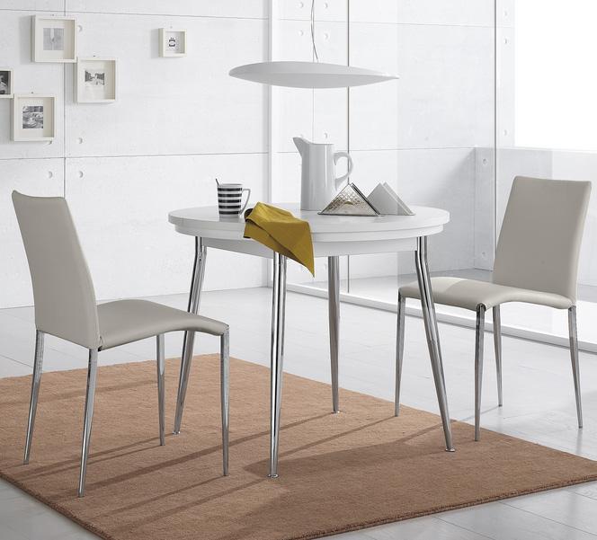 Casas cocinas mueble mesa extensible redonda - Mesa de cocina redonda extensible ...