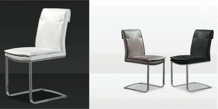 Mia home silla tapizada for Sillas comedor respaldo bajo