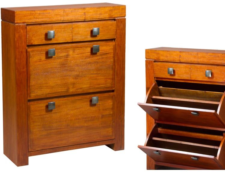 Mia home zapatero de madera for Zapateros de madera de pino