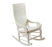 Mecedora blanca - Silla mecedora de madera color blanco