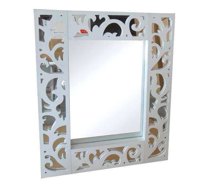 Mia home espejo de espejos for Espejos con marco color plata