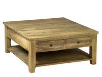 Mesa rinconera envejecida Pons - Mesa rinconera envejecida Pons en madera de caucho