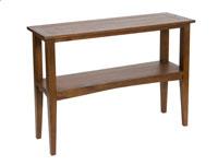 Consola con estante - Consola con estante  en madera de mindi