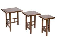 Set 3 mesas nido Amara - Set 3 mesas nido Amara en madera de acacia