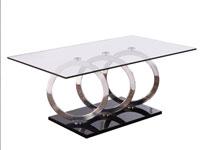 Mesa centro Circles acero - Mesa centro Circles acero, fabricado en vidrio y acero