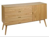 Aparador Wood ceniza - Aparador Wood ceniza, fabricado en madera de fresno