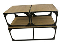 Set 3 mesas centro metal - Set 3 mesas centro metal fabricado en Hierro