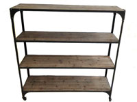 Estanter�a madera y metal 4E - Estanter�a madera y metal 4E fabricado en Hierro