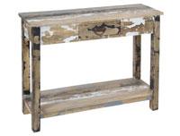 Recibidor 1 caj�n decapado - Recibidor 1 caj�n decapado fabricado en madera de mindi