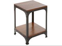 Mesa auxiliar madera y metal - Mesa auxiliar madera y metal fabricado en madera de acacia