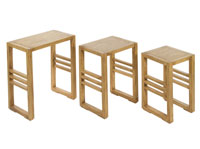 Set 3 mesas nido IOS - Set 3 mesas nido IOS fabricado en madera de acacia