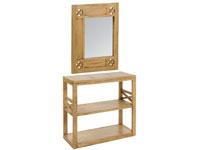 Recibidor con espejo IOS - Recibidor con espejo IOS fabricado en madera de acacia