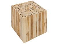 Mesa Cubo Natural - Mesa Cubo Natural, fabricado en madera de teca