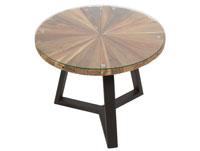 Mesa de centro Sun redonda - Mesa de centro Sun redonda, fabricado en madera de mindi
