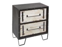 Comoda 2C metal y madera - Comoda 2C metal y madera, fabricado en hierro y madera de abeto