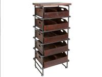 Estantería con cajones - Estantería con cajones, fabricado en hierro y madera madera de abeto