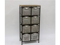 Estantería con cajones - Estantería con cajones, fabricada en madera y metal acabado vintage