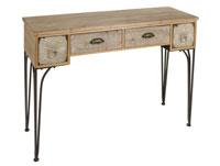 Recibidor metal y madera - Recibidor metal y madera, fabricado en hierro y madera madera de abeto