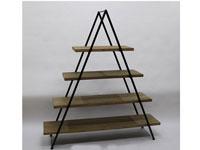 Estantería metal pirámide - Estantería metal pirámide, fabricado en madera y metal