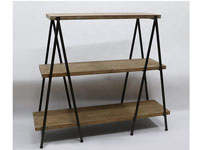 Estantería de madera y metal - Estantería de madera y metal, fabricado en madera y metal