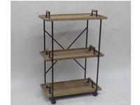 Estantería 3 repisas de madera y metal - Estantería 3 repisas de madera y metal, fabricado en madera y metal