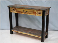 Consola con cajón Solo Vintage - Consola con cajón Solo Vintage, fabricado en madera y metal