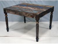 Mesa de comedor Solo Vintage - Mesa de comedor Solo Vintage, fabricado a mano en madera de mahogany