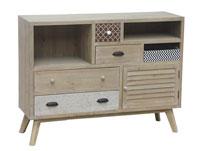 Aparador de madera estilo industrial - Aparador de madera estilo industrial, fabricado en madera de abeto y md madera de color natural estilo industrial