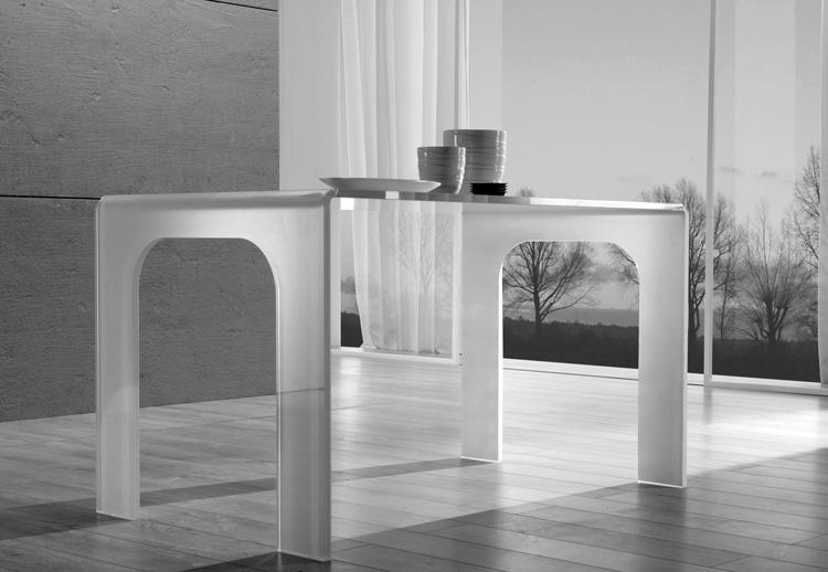Mesa con base y superficie de cristal templado extra blanco - Recambio tela parasol ...