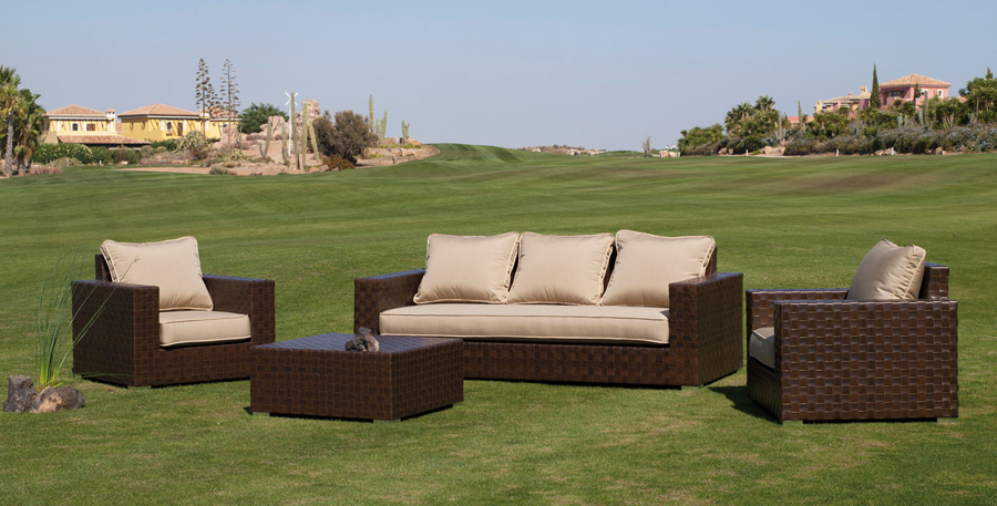 Sof de exterior modelo samit con sillones y mesa de for Sillones exterior diseno