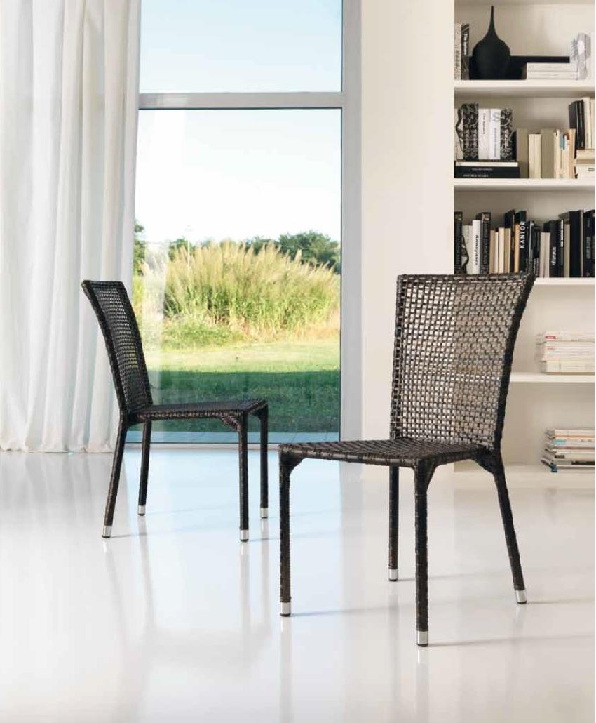 Mesa madera de teca y silla tapizada simil piel ecopiel - Recambio tela parasol ...