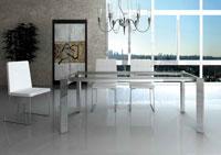 Mesa de comedor extensible Marina - Mesa de comedor extensible Marina, Cuadrada o rectangular