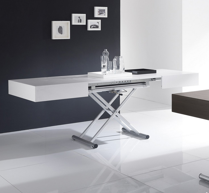 Mesa extensible regulable en altura comedor salon - Mesas plegables salon ...