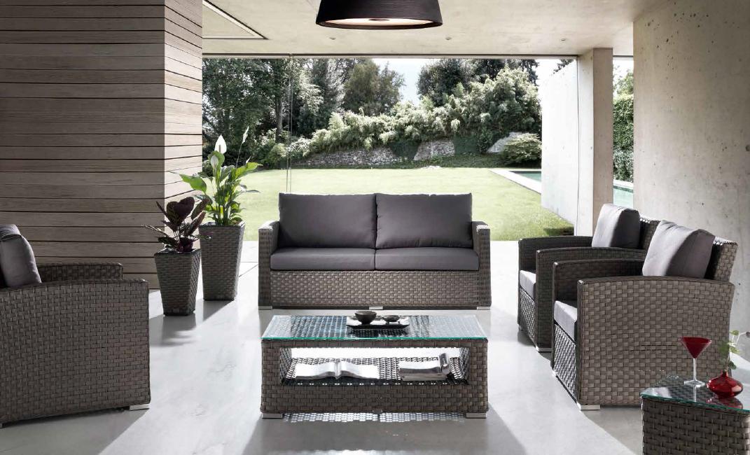 Tresillo muebles estructura aluminio para exteriores lura for Sofa arcon terraza