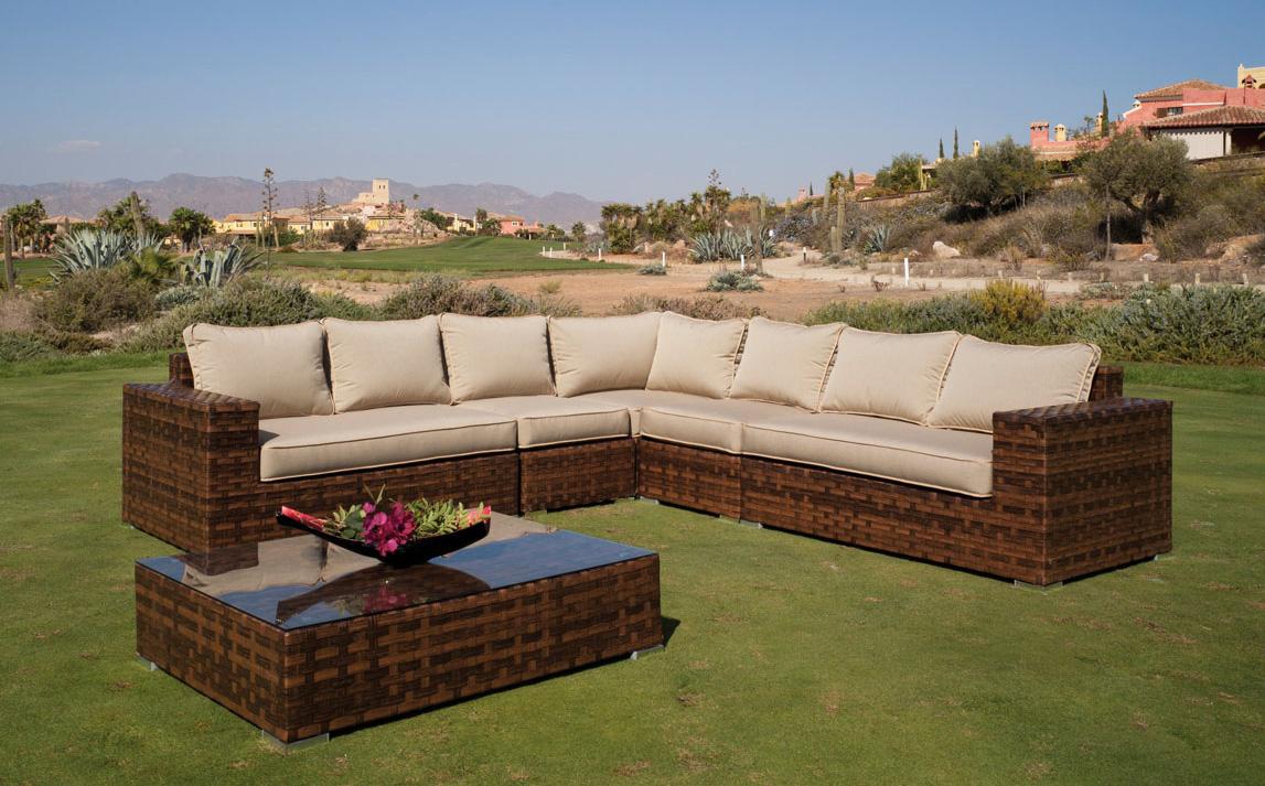 Set sof s para exteriores modelo venus muebles de terraza for Muebles para patios exteriores