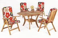 Set sillas y mesa madera modelo ABERDIN
