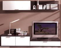 ACG- Modular salón moderno color ceniza
