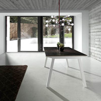 Mesa de comedor Agra - Mesa de comedor Agra, estructura de Aluminio
